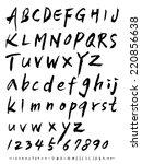 alphabet | Shutterstock .eps vector #220856638