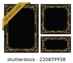 art deco gatsby backgrounds | Shutterstock .eps vector #220859938