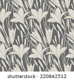 seamless pattern with flowers... | Shutterstock .eps vector #220862512