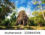 ancient khmer pre angkor... | Shutterstock . vector #220864246