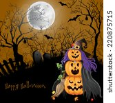 halloween party background. | Shutterstock .eps vector #220875715
