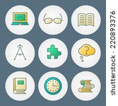vector icons set. for web site... | Shutterstock .eps vector #220893376