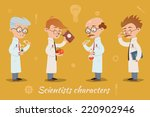 set of four vector scientist... | Shutterstock .eps vector #220902946