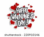 happy valentine's day greeting... | Shutterstock .eps vector #220910146