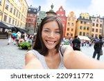 asian woman taking self... | Shutterstock . vector #220911772