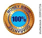 money back guarantee golden...   Shutterstock .eps vector #220912726