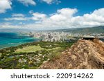 aerial view of honolulu and... | Shutterstock . vector #220914262