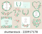 elegant cards collection with... | Shutterstock .eps vector #220917178