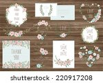 stylish cards collection with... | Shutterstock .eps vector #220917208