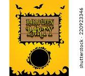 vector happy halloween card... | Shutterstock .eps vector #220923346