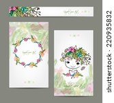 Postcard Floral Design With...