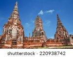 old temple wat chai watthanaram ... | Shutterstock . vector #220938742