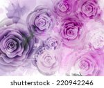 Abstract Background With Roses...