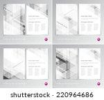 vector flyer design templates...   Shutterstock .eps vector #220964686