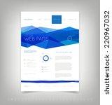vector website design template... | Shutterstock .eps vector #220967032