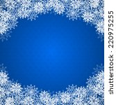 christmas blue background with... | Shutterstock .eps vector #220975255