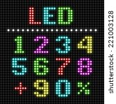 led display numbers. vector. | Shutterstock .eps vector #221003128