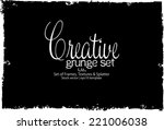 design template.abstract grunge ... | Shutterstock .eps vector #221006038
