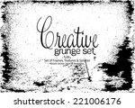 design template.abstract grunge ... | Shutterstock .eps vector #221006176