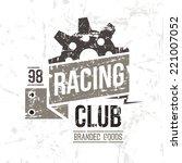 emblem racing club in retro... | Shutterstock .eps vector #221007052