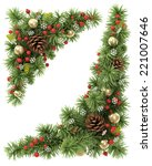 christmas corners set from the... | Shutterstock . vector #221007646
