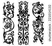 swirling pattern  silhouette... | Shutterstock . vector #221014132