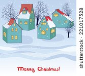 vector christmas invitation... | Shutterstock .eps vector #221017528