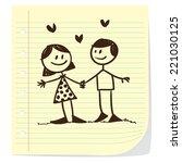 vector illustration of boy and... | Shutterstock .eps vector #221030125