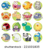 Stock vector vector illustration of animals set cartoon 221031835