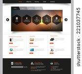 corporate website template  ...   Shutterstock .eps vector #221037745