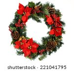 Christmas wreath  isolated on...