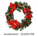 Christmas Wreath  Isolated On...
