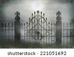 cemetery gate | Shutterstock . vector #221051692