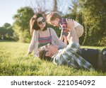 happy family portrait. young... | Shutterstock . vector #221054092