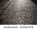 cobbled street of temple bar ...   Shutterstock . vector #221061478