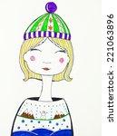 hand drawn illustration of...   Shutterstock . vector #221063896