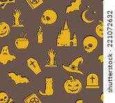 vector seamless halloween...   Shutterstock .eps vector #221072632