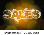 sales concept text on background | Shutterstock . vector #221076055
