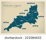 modern map   south west england ... | Shutterstock .eps vector #221084632