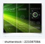 vector modern dark tri fold... | Shutterstock .eps vector #221087086