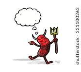 cartoon little devil | Shutterstock .eps vector #221100262