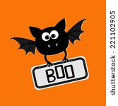 cute bat with plate boo. happy...