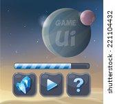 game menu user interface...