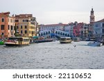 Grand Canal, the most important canal in Venice, Italy - stock photo
