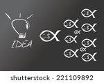 money making ideas | Shutterstock .eps vector #221109892