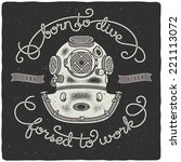 t shirt print with vintage... | Shutterstock .eps vector #221113072
