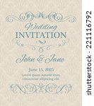 invitation with calligraphy... | Shutterstock .eps vector #221116792