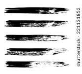 vector set of grunge brush... | Shutterstock .eps vector #221131852
