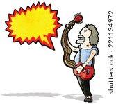 cartoon electric guitar player | Shutterstock .eps vector #221134972