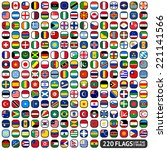flags of the world  rounded... | Shutterstock .eps vector #221141566